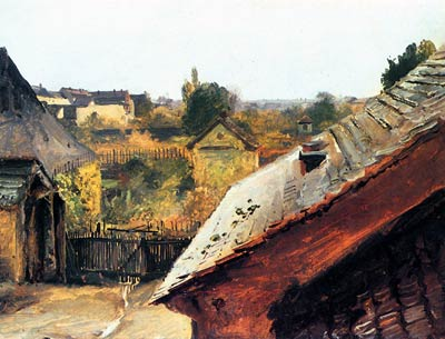 View of the Roofs and Gardens Karl Blechen