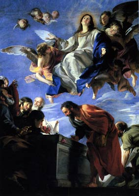 Assumption of the virgin by Juan Martin Cabezalero