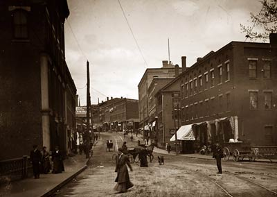 Main Street near Railroad station Brattleboro Vermont 1907