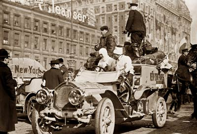 New York Paris race St. Chaffray Dedion car 1908