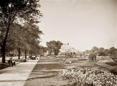 Conservatory gardens, Lincoln Park Chicago Illinois 1905