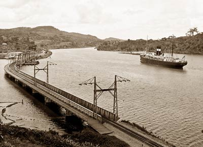 Steamship on Chagres River crossing, Gamboa, Panama Canal