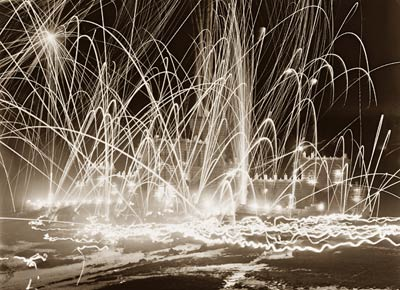 Midwinter carnival fireworks, Upper Saranac New York 1909