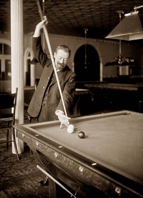 Firmin Cassignol billiard player