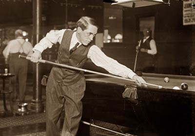 Jerome Keogh pool player at table