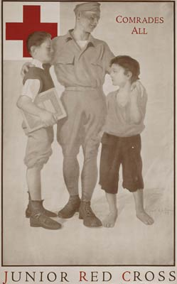 Junior Red Cross Comrades all - World War One Poster