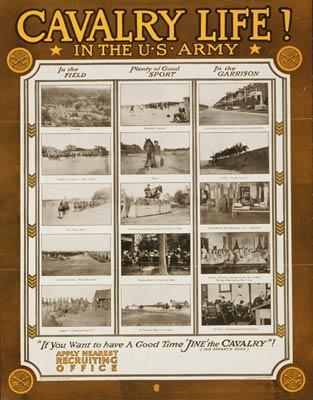 Cavalry life In the U.S. Army WWI Poster