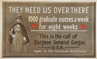 Call of Surgeon General Gorgas, American World War I Poster