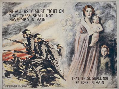 New Jersey must fight on World War One, WWI Poster