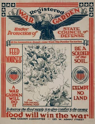 Registered War Garden World War One Poster