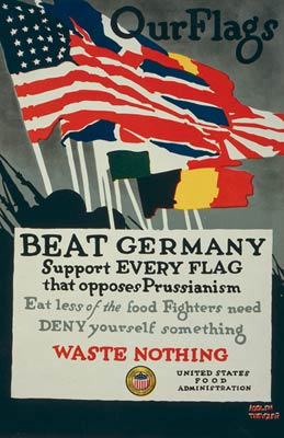 Beat Germany Support every flag that opposes Prussianism - WWI