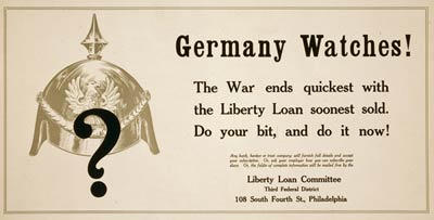 Germany watchesn World War I Poster
