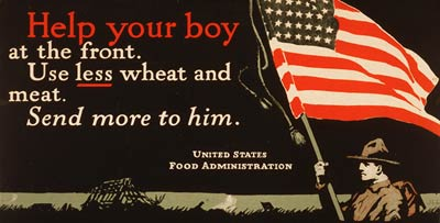 Use less wheat and meat - World War One Poster