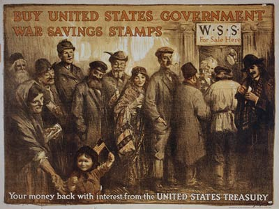 United States government war savings stamps WWI Poster