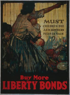 Must children die and mothers plead - WWI Poster