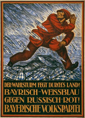 Bavarian People's Party Election Storm - German WWI Poster
