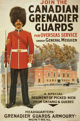 Join the Canadian Grenadier Guards War Poster