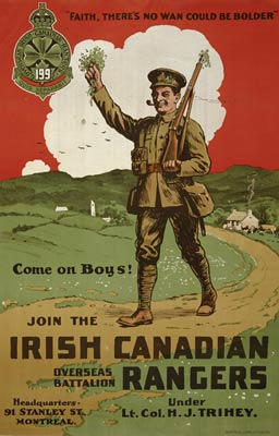 Irish Canadian Rangers World War I Poster
