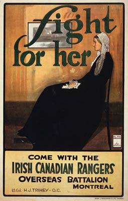 Whistlers mother - Irish Canadian Rangers War Poster