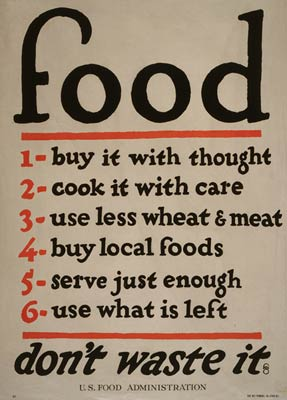 Don't waste food American World War I Poster