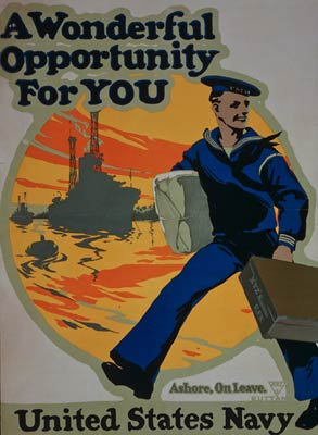 United States Navy American War Poster