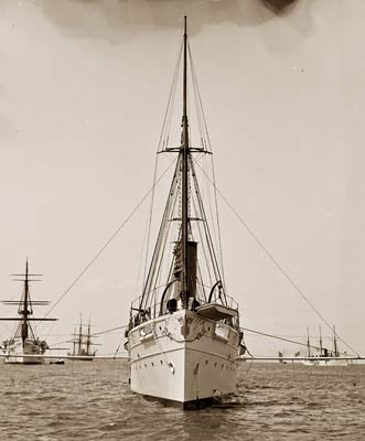 U.S.S. Dolphin American gunboat 1890's
