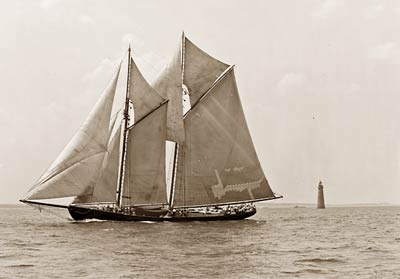 Fishing smacks, James W. Parker Yacht, Fishermen's race 1907