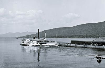Horicon sidewheeler steam boat Lake George, New York 1904