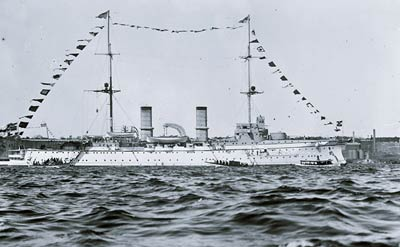 SMS Hertha cruiser for German Imperial Navy
