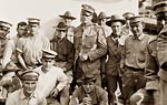 Boys in Blue troops on U.S. Army ship Kilpatrick