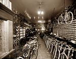 Bicycle shop, Detroit, Michigan early 20th century