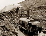 Excavation of the Panama Canal, Steam shovels