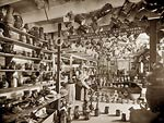 Interior of a pottery shop Biloxi Mississippi 1901