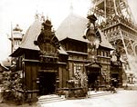 Pavilion of Nicaragua and base of the Eiffel Tower, Paris Exposi