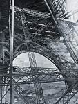 Eiffel Tower during construction