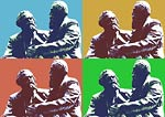 Marx and Engels in conversation Pop Art