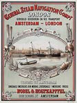 General Steam Navigation Company. Amsterdam to London Poster