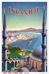 Istanbul vintage travel poster