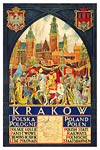 Krakow, Poland, Polish state railways poster