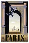 Paris Arc de Triomphe travel poster