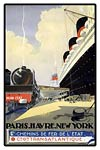 Paris, Havre, New York travel poster