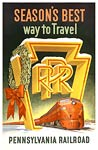 Pennsylvania Railroad vintage travel poster
