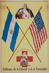 World War One Poster with flags of Nicaragua and the United Stat