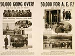 50,000 going over! Will you be one of them? WWI Poster