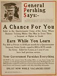 General Pershing, Quartermaster Corps World War I Poster