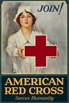 American Red Cross serves humanity - World War I Poster