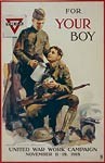 For your boy United War Work Campaign WWI Poster