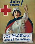 The Red Cross serves humanity World War I Poster