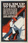 Fill 'em up to the top loading crates onto boxcar WWI Poster