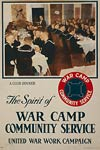 The spirit of war camp community service - sailors - WWI Poster